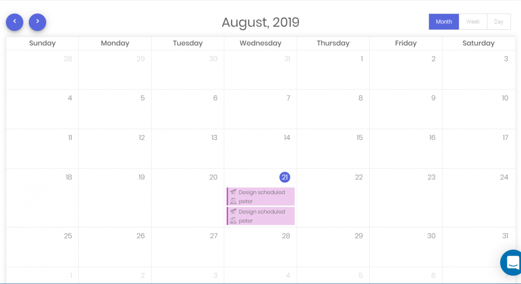 Calendar and new proposal and order dates
