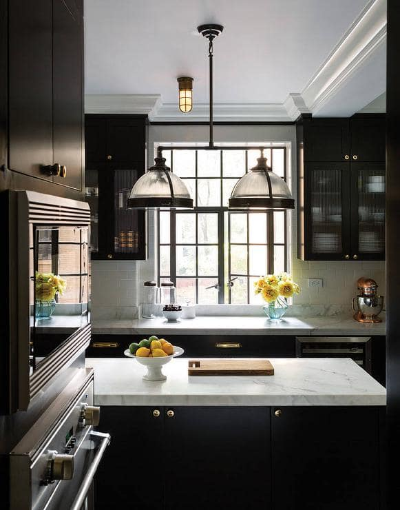 Black Kitchen Cabinet Inspiration Design by Best and Company NYC