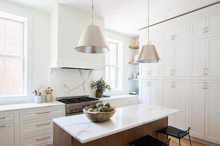 Statuary Quartz Countertop. Kitchen Design by Thompson Fine Home Renovations