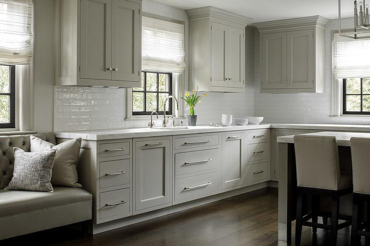 Light Gray Kitchen Cabinet Inspiration Design by Valerie Grant Interiors