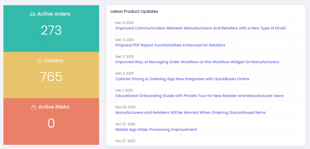 Latest Product Updates are Now Available in the App Dashboard