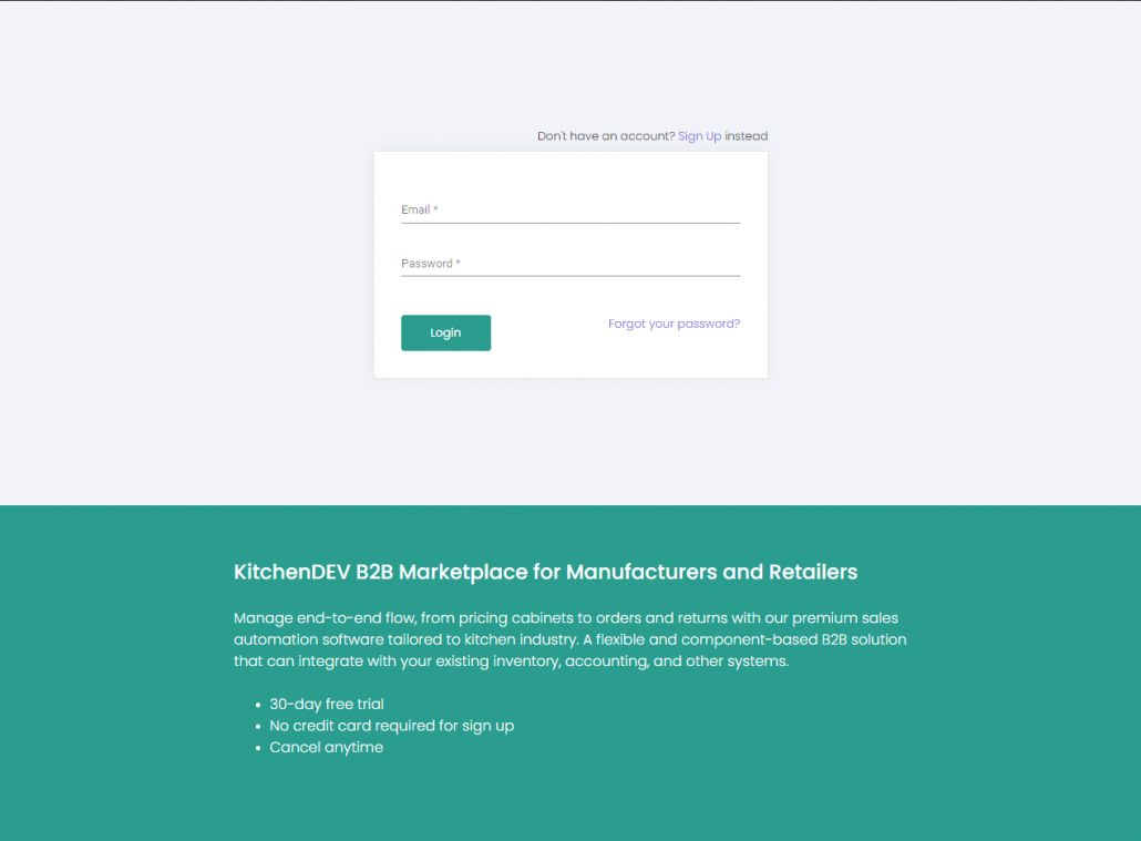Smooth Sign-in, Registration, and Dashboard Experience for Retailers and Manufacturers