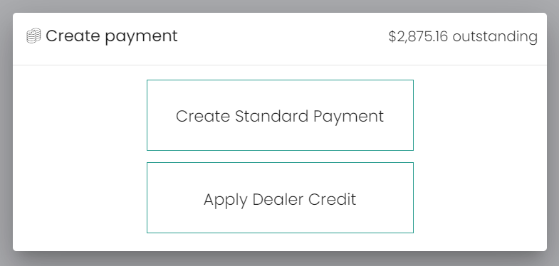 Choosing the type of payment