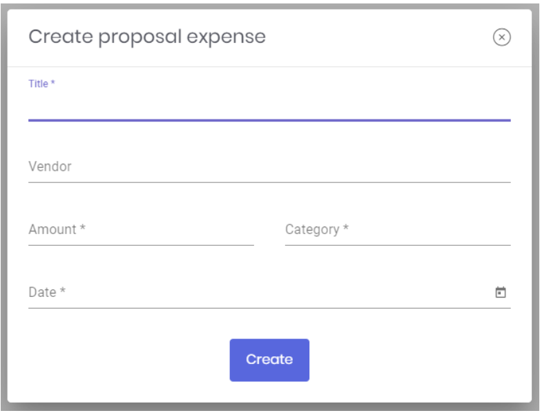 Create proposal expense