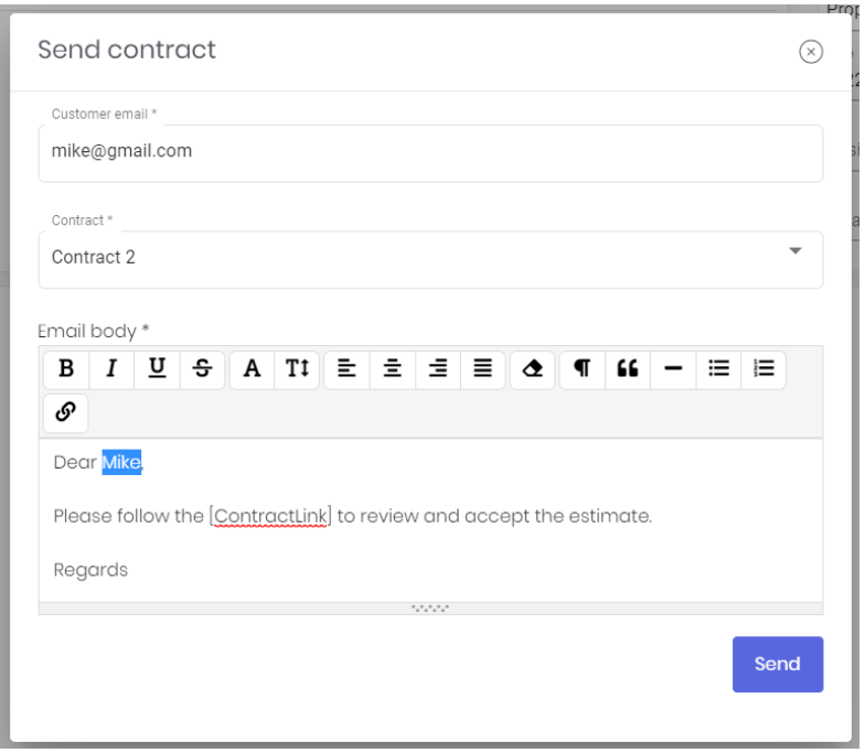 How to Send Proposal Contracts to Customers
