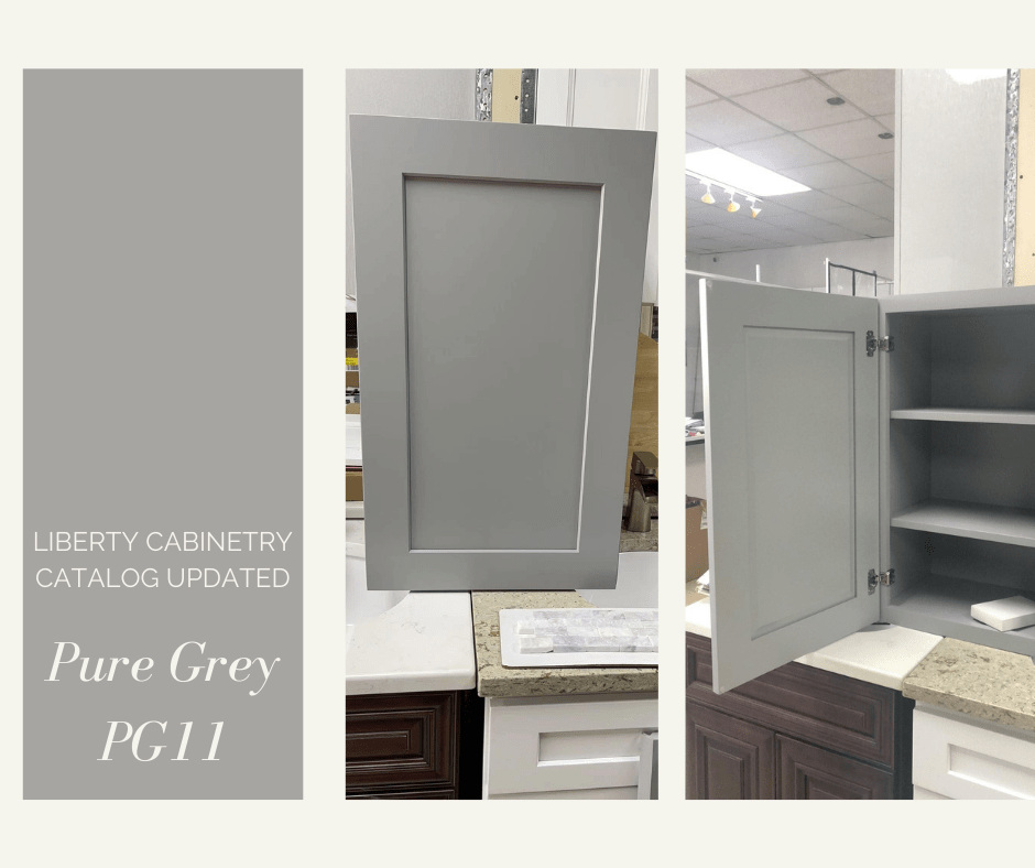 Liberty Cabinetry Catalog Updated with Pure Grey Door Style