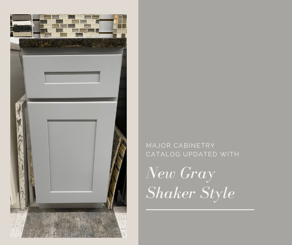 Major Cabinetry Catalog Updated with New Gray Shaker Style